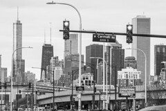 (jfre81) Tags: chicago black white blackandwhite cityscape landscape streetscape cermak chinatown south side skyline downtown loop bw monochrome traffic light intersection signal freeway expressway interstate 94 dan ryan 312 windy second city urban james fremont photography jfre81 canon rebel xs eos