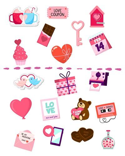 Valentine Day Stickers image