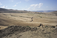 Sicily (ADMurr) Tags: italy italia sicily sicilia debres wheat field clouds valley sunken road leica m240 35mm summaron m00041551