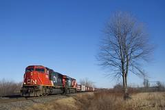 CN 369 (Michael Berry Railfan) Tags: cn369 cn canadiannational train freighttrain lescoteaux kingstonsub cn5703 cn2226 sd75i emd gmd ge generalelectric gevo es44dc