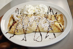 Capriccio Cafe, Destin FL (PlaysWithFood) Tags: lunch crepe cheese strawberries bananas