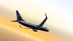 b738 - 2020-01-12 19.36.51 (Rell Brown) Tags: ryanair xp11 xplane b737 b738 737ng 737800 eastern southwest