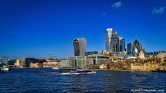 London, United Kingdom: Iconic skyline north of the Thames River (nabobswims) Tags: england gb greatbritain hdr highdynamicrange ilce6000 lightroom london mirrorless nabob nabobswims photomatix sel18105g skyline skyscraper sonya6000 thamesriver uk unitedkingdom
