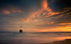 Rattray Head Lighthouse (PeskyMesky) Tags: aberdeenshire rattrayhead lighthouse landscape longexposure scotland sunrise sunset water winter january red sea sky canon canon5d eos
