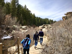 Hiking at Castlewood Canyon (wjaachau) Tags: forestpathways hikingtrail hiking trail travel boulder rockformations scenery scenic canyon park nature landscape colorado castlewoodcanyonstatepark