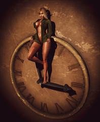 Fragments of Time (Grisnubia️) Tags: elf blonde beautiful time clock sl slfriends genus legacy