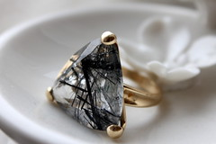 Special Present (JULIANA LEFTEROVA) Tags: macromondays triangle ring gemstone jewels semipreciousstone jewellery macro quartz stilllife