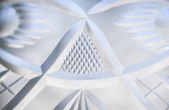 Chiseled crystal - Macro Mondays Triangle (soniamarmen) Tags: macromondays triangle chiseled crystal glassware