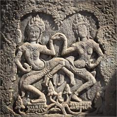Bayon, Angkor Thom, Kambodscha (Janos Kertesz) Tags: lintel buddha temple history statue religion asia architecture travel monument culture old art bayon angkorthom angkor apsara relief cambodia