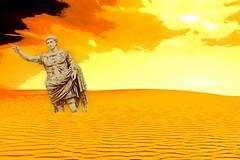 Past glory (sirhowardlee) Tags: roman emperor statue imperial sand desert caesaraugustus historicalfigure ancient