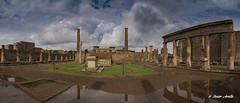 Pompeya.. (Javier Arcilla) Tags: piedras antiguo panoramica cielo nubes napoles italia europa pentax k70
