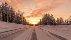 Beautiful Lapland Sunrise (pboolkah) Tags: rovaniemi lappi finland canon canon5d canon5dmkiv sunrise sun winter clouds cloud snow tree trees