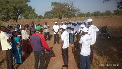 Project staff in Mali interacting with EU delegation during a field visit