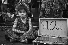 cd's (gro57074@bigpond.net.au) Tags: cd's january2020 child bw facepaint ochre indigenous firstaustralian girl f40 2470mmf28 tamron d850 nikon 2020 january circularquay sydney guyclift monochromatic monotone monochrome mono blackwhite
