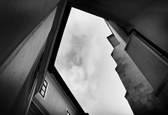 Look up (Missing Pictures) Tags: explored explore eu europe monastery abbey travel traveling contrast sky angle bw blackandwhite white black lookup architectural architecture monochrome hungary pannonhalma