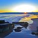 Sunset on Coney Island Beach Brooklyn New York City NY P00405 DSC_3186