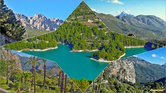 LAS JOYAS ESCONDIDAS DE ALICANTE (Angelines3) Tags: embalse montañas agua árboles cielo naturaleza alicante comunidadvalenciana collage