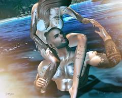 ᴸᵉᵗ ᵐᵉ ᵇᵃˢᵏ ⁱⁿ ʸᵒᵘʳ ʷᵃʳᵐᵗʰ.... (scarlettrose.karsin) Tags: speakeasy speakeasytattoo tattoo bodyart bodyink sl secondlife legacy signature genusproject catwa slcouple sllove beach