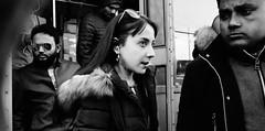 Eyes on. (Baz 120) Tags: candid candidstreet candidportrait city contrast street streetphoto streetcandid streetportrait strangers rome roma ricohgrii europe women monochrome monotone mono noiretblanc bw blackandwhite urban life portrait people provoke italy italia grittystreetphotography faces decisivemoment