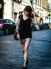 Street (sladkij11) Tags: streetfotofirenze tatoo tatuaggio passante ragazza leicam9 summilux50mmf14