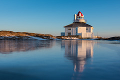 Morning Reflections ... (vanessa violet) Tags: winter ice lighthouse capespear newfoundland sunrise morningreflections vanessaviolet reflection