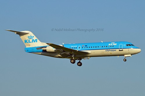 KLM Cityhopper PH-KZE Fokker F70 cn/11576