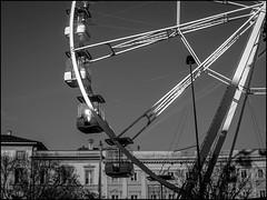 Wheel's Spokes (GColoPhotographer) Tags: bergamo bw bianconero blackandwhite spoke wheel architecture urbanexploration wheelride