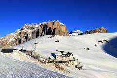 Sella Pass in winter (annalisabianchetti) Tags: dolomites dolomiti paesaggio landscape winter snow neve inverno beautiful italy travel