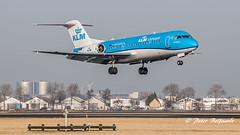 PH-KZM   Fokker F70 - KLM Cityhopper (Peter Beljaards) Tags: msn11561 2xrrrb183tay rollsroyce fokker fokker70 phkzm plane airplane aircraft passengerjet airliner klmcityhopper ams eham schiphol polderbaan nikon7003000mmf4556 aviationphotography final landing