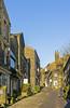 Haworth Main Street in the winter sunshine (dermotk) Tags: architecture britain britishvillages buildings england englishvillages gb northernengland uk village westyorkshire haworth brontecountry