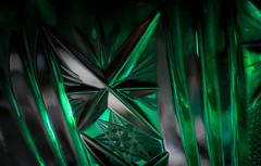 tiny cristal triangles (marinachi) Tags: macromondays macro green triangles closeup crystal glass