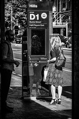 Whens the next bus? (Chris (a.k.a. MoiVous)) Tags: streetphotography citywestprecinct adelaidecbd streetlife