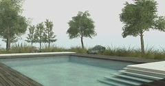 Jack Hanby Interiors - Alpha Veneta (Jack Hanby -) Tags: second life virtual living landscape garden modern simple elegance pool swimming relaxing flax plants mulberry