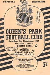 Queen's Park v Rangers 19571102 (tcbuzz) Tags: queens park football club hampden glasgow scotland scottish league programme