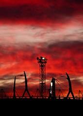 Lyon - Coucher de soleil sur la gare de Vaise. (Gilles Daligand) Tags: lyon vaise gare railwaystation coucherdesoleil sunset