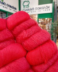 Alpaca ,mohair and silk ❤ (sifis) Tags: knitting sakalak wool alpaca woolshop athens greece silk red quality