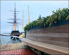 Wharfside (Timothy Valentine) Tags: large bench 0120 2020 tallship bowenswharf monday newport rhodeisland unitedstatesofamerica