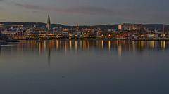 sunset over Kristiansand (gormjarl) Tags: kristiansand wather lake fjord sunset beach water sky natur night art light sun cloud landscape street river otra norway city