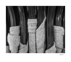 Talbots (agianelo) Tags: sweater clothes plastic hanger monochrome bw bn blackandwhite