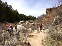 Hiking at Castlewood Canyon (wjaachau) Tags: adventure outdoor outside hikingtrail hiking travel trail canyon park forestpathways scenery scenic boulder rockformations landscape nature colorado castlewoodcanyonstatepark