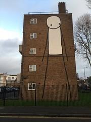Stik (maggie jones.) Tags: streetart london stickfigure socialhousing hackney