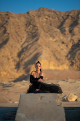 Frame from Fashion Shoot (|MBS-..|) Tags: nikon d4 fashion outdoor mountain 105mm prime black dress sexy hot sharjah
