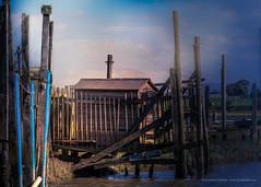 Wharf (Peeblespair) Tags: riverwyre wharf blue rustic peeblespair peeblespairphotography raelawson