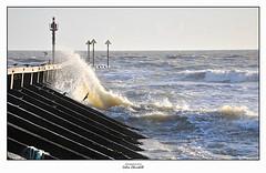 Wave Barrier (PIXTOART) Tags: groin littlehampton rough sea waves