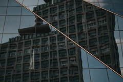 Reset (Kiindra) Tags: outside outdoor bulding old modern urban reflections glass window surreal winter clearsky indie aesthetic cinematic