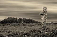 (Jean-Luc Léopoldi) Tags: statue pierres borddemer bretagne ciel lande herbe standing