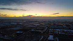Downtown Denver, from Stapleton (Simon Foot) Tags: dramaticsky aerialphotography usa mavicmini sunset city cityscape aerial fall traffic skies downtowndenver 169 november drone denver dji mavic fog skyscrapers colorado skyline quadcopter djimavicmini 2019 streets downtown autumn unitedstatesofamerica