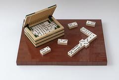 Dominoes box (Galerie d'Antha) Tags: dominoes dominos domino gaming tiles gamebox lego moc galeriedantha