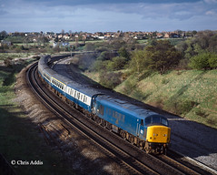 Stonebridge In The 1980s (chrissyMD655) Tags: ecml br blue class 45 45122 peak durham stonebridge
