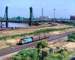 Newport Bridge Panorama (chrissyMD655) Tags: teesside class 37 37501 newport bridge middlesborough tees yard
